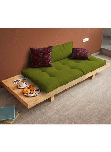 Woodesk Arin Masif Natural-Yeşil Renk Sedir Yeşil